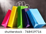 composition with colorful paper ...   Shutterstock . vector #768419716