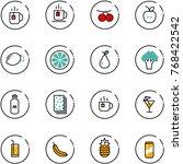 line vector icon set   tea... | Shutterstock .eps vector #768422542