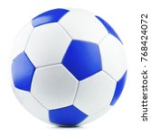 leather soccer ball isolated on ...   Shutterstock . vector #768424072