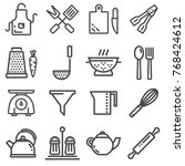 set of modern thin line icons... | Shutterstock .eps vector #768424612