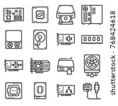 computer hardware icons. pc... | Shutterstock .eps vector #768424618