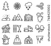 winter icons collection  ... | Shutterstock .eps vector #768425002