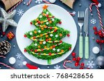 christmas tree colorful festive ... | Shutterstock . vector #768428656