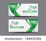 gift voucher template layout ... | Shutterstock .eps vector #768429382