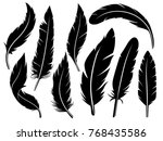 detailed majestic feather... | Shutterstock .eps vector #768435586