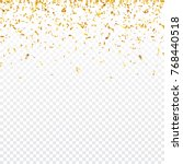 christmas golden confetti.... | Shutterstock .eps vector #768440518