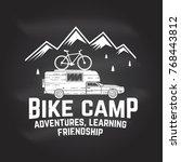 bike camp. vector illustration... | Shutterstock .eps vector #768443812