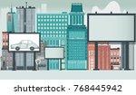 city  urban  downtown scene... | Shutterstock .eps vector #768445942