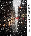 blurred new york city street... | Shutterstock . vector #768451276