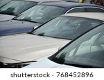 roofs of several cars. a lot of ...   Shutterstock . vector #768452896
