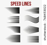 speed lines black for manga and ... | Shutterstock .eps vector #768453022
