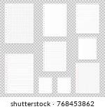 notebook paper set. vector... | Shutterstock .eps vector #768453862
