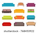 sofa colored vector set.... | Shutterstock .eps vector #768453922