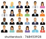 people icons set. team concept. ... | Shutterstock .eps vector #768453928