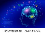 low poly abstract brain virtual ... | Shutterstock .eps vector #768454738