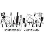 cooking pattern for your design ... | Shutterstock .eps vector #768459682