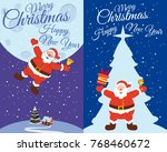 vector merry christmas and... | Shutterstock .eps vector #768460672