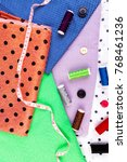 items for sewing clothes.... | Shutterstock . vector #768461236