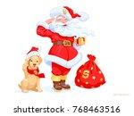 vector puppy of the golden... | Shutterstock .eps vector #768463516
