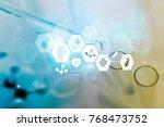 test  lab  tube. | Shutterstock . vector #768473752