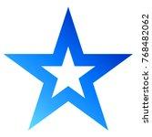 christmas star blue   outlined... | Shutterstock .eps vector #768482062