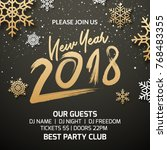 new year 2018 party poster... | Shutterstock .eps vector #768483355