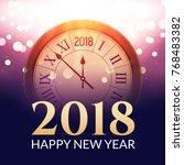 2018 new year shining... | Shutterstock .eps vector #768483382