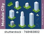 set urban isometric skyscraper... | Shutterstock .eps vector #768483802