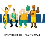 vector cartoon flat basletball... | Shutterstock .eps vector #768483925