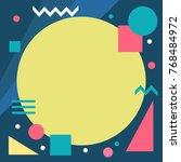abstract memphis background | Shutterstock .eps vector #768484972