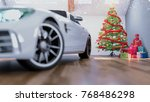car in chrismas room and... | Shutterstock . vector #768486298