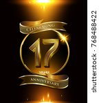17 years anniversary logo with... | Shutterstock .eps vector #768488422