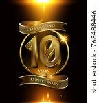 10 years anniversary logo with... | Shutterstock .eps vector #768488446