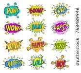 Pop Art Comic Bubbles Vector...