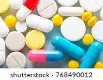 pharmacy theme  medicine... | Shutterstock . vector #768490012