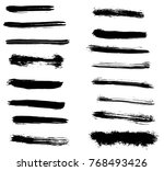 grunge vector brush strokes | Shutterstock .eps vector #768493426