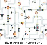 seamless stock  ware pipes... | Shutterstock . vector #768495976