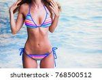 woman with perfect body in... | Shutterstock . vector #768500512