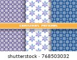 vector set of christmas... | Shutterstock .eps vector #768503032