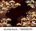 japanese pattern of pine and... | Shutterstock .eps vector #768508195