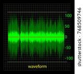 graphic representation of sound ... | Shutterstock .eps vector #768509746