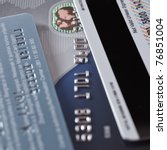 Credit Cards close up - stock photo