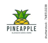 pineapple logo template vector... | Shutterstock .eps vector #768513238