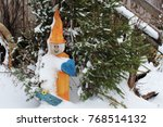 Funny Gnome Welcoming Guests I...
