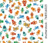 seamless pattern from colorful... | Shutterstock .eps vector #768516025