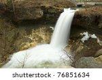 minnehaha falls in early spring.   Shutterstock . vector #76851634