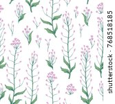 floral seamless pattern. wild... | Shutterstock .eps vector #768518185