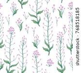 floral seamless pattern. wild... | Shutterstock .eps vector #768518185