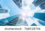 sky and exterior glass wall... | Shutterstock . vector #768518746