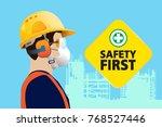 safety equipment  construction...   Shutterstock .eps vector #768527446